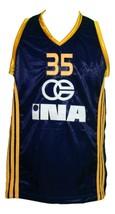Dario Saric #35 KK Zagreb Croatia Basketball Jersey New Sewn Navy Blue Any Size image 1