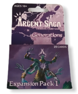Argent Saga Generations Trading Card Game Expansion Pack 1 25 TCG Sealed... - $24.74