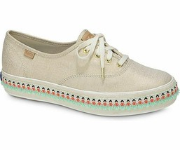 Keds Womens Triple Hula Foxing Sneakers Natural/Gold Size 9.5 - $35.00