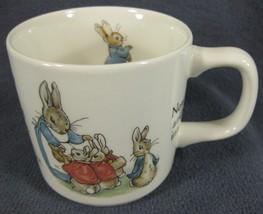 Wedgwood Peter Rabbit Single Handled Child Mug Cup Beatrix Potter England - $17.95