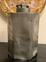 Rare and Exceptional Large Antique Hexagonal Screw Top Lidded Pewter Can... - $499.00