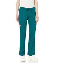 NEW NWT Dickies Women's Low Rise Straight Leg Drawstring Pant, Teal, Small DK100 - $19.06