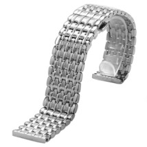 YISUYA Silver 22mm Stainless Steel Silver Tone Nine Bead Solid links Watch Band  - $63.85