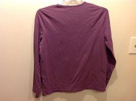 Jones SPORT Purple V Neck Long Sleeve Top Sz XL image 4