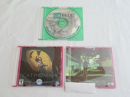 VTG PC CD ROM LOT-  Catwoman 2 CD's and Sims Isle Rainforest Missions DI... - $9.99