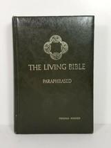 Vtg The Living Bible Paraphrased Green Padded Hardcover 1971 Tyndale House - $19.48
