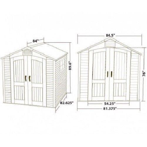 Lifetime 7x7 ft Storage Shed Kit - 2 Windows (60042)