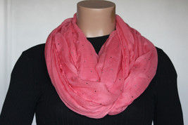 NEW Style & Co Calypso Coral Silver Women's Neck Scarf Infinity Loop siz... - $8.90