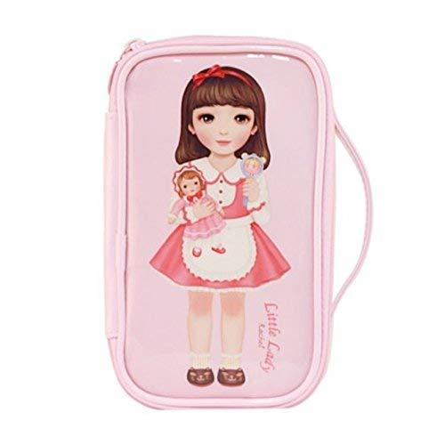 Fashion Waterproof Travel Makeup Case Cosmetic Bag Sundry/Toiletry, Pink Girl