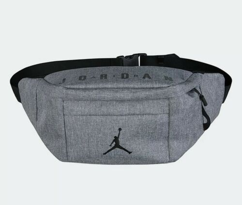 Primary image for Nike Air Jordan Cross-Body Fanny Pack Gray Shoulder Bag JUMPMAN Adjustable