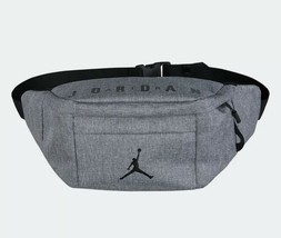 Nike Air Jordan Cross-Body Fanny Pack Gray Shoulder Bag JUMPMAN Adjustable  - $35.00