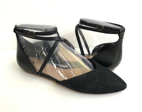 UGG IZABEL MAR BLACK ANKLE STRAP CASUAL FLATS SHOE size US 11 / EU 42 / UK 9.5 - $64.52