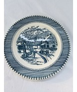 "Currier Ives By Knowles Country Life Dinner Plate 10"" - $2.96"