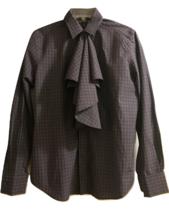 Ralph Lauren BLACK LABEL Women's Shirt Blouse Top Plaid 10 MSRP: $425.00 - $119.99