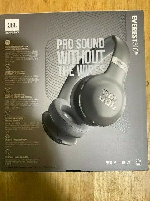 JBL Everest 310GA Wireless Bluetooth On-Ear Headphones with Voice -SILVER-NEW
