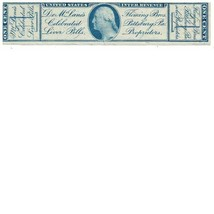 Fleming Brothers Liver 1c U.S.A. Internal Revenue RS90b Private Die, Pro... - $32.00