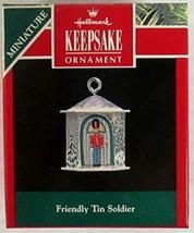 Hallmark Friendly Tin Soldier 1992 Miniature Ornament - $1.88