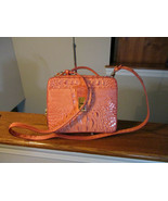 Authentic Brahmin Evie Poppy Melbourne Small Crossbody Bag Embossed Leat... - $168.29