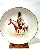 Vintage Gorham China Frederic Remington Plate  A Breed  Mint Condition - $19.75