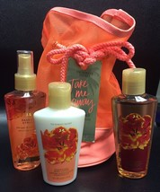 "Victoria Secret Take Me Away ""Passion Struck"" Travel Essentials 4pc Gift... - $24.70"