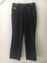 Quacker Factory Dream Jeannes Black Zip Up Pants Stretch Jeans Size 10 EUC - $23.76