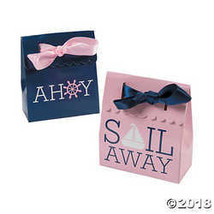 Nautical Girl Party Favor Boxes - 12 ct by Party Supplies - $6.11