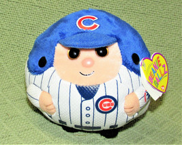 "TY BEANIE BALLZ BASEBALL CHICAGO CUBS MLB PLUSH 6"" WITH HEART TAGS BLUE ... - $9.90"
