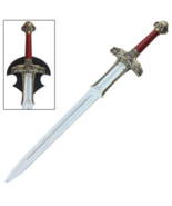 Medieval Barbarian Atlantean Sword w/Wall Display Plaque - $95.00
