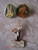 Looney Tunes Pin Lot Christmas Waskada Lions daffy duck bugs bunny - $18.00