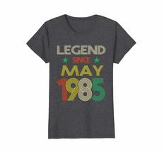 Uncle Shirts -   Legend Since May 1985 Shirt - 33rd Birthday Gift Shirt ... - $19.95+