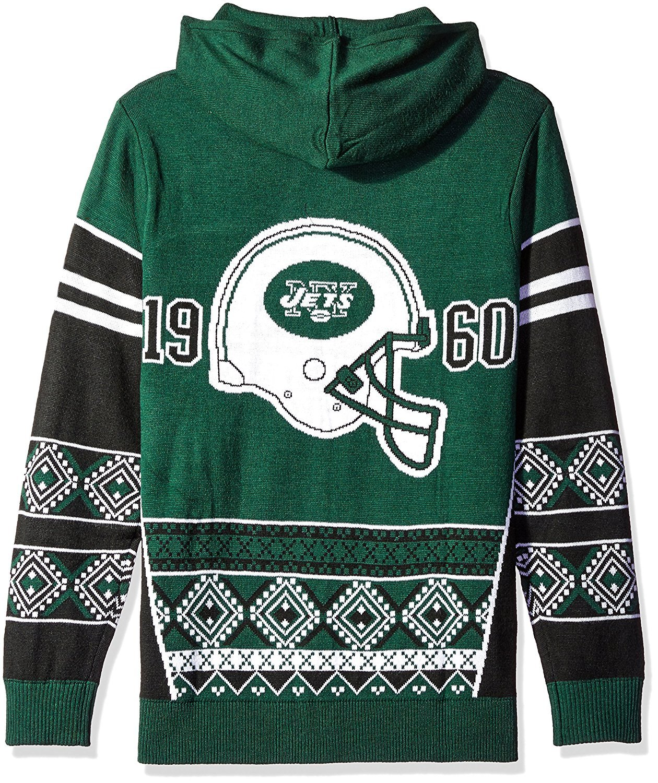 NFL Klew New York Jets Big Logo Hooded Sweater