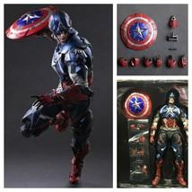 Captain America Variant Play Arts Kai Avengers Super Hero Action Figure Toy - $103.84+
