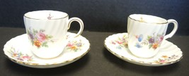 Two Minton Demitasse Cups & Saucers - Marlow Pattern - $28.49