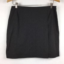 GAP Womens Size 8 Skirt Career Wrap Gray Stretch Mini Pencil Side Zip B17-23  - $16.56