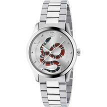Gucci YA1264076 Silver Dial Stainless Steel Strap Unisex Watch - $723.99