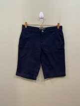 Old Navy Navy Blue Chino Flat Front Uniform Shorts Expandable Waist Girl... - $17.60
