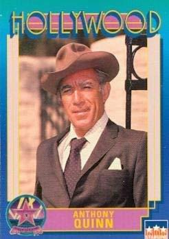 Anthony Quinn trading Card (Actor) 1991 Starline Hollywood Walk of Fame #58