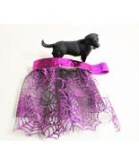 Purple Halloween Dog skirt, Pet costume, Cat Skirts, Glitter Spider Web - $12.00+