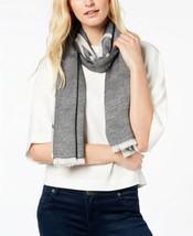 Calvin Klein Color Pop Calvin Logo Scarf (Gray) - $45.96