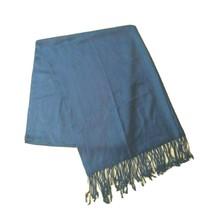 """Women's Scarf Oblong 72"""" Rectangle Fringe Fringed Blue Shawl Wrap - $22.42"""