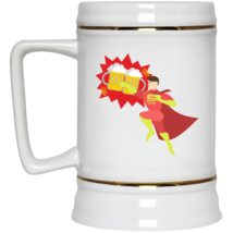 Super Dad In Flight Beer Stein 22oz Mugs White or With Color Backgrounds  - $22.95