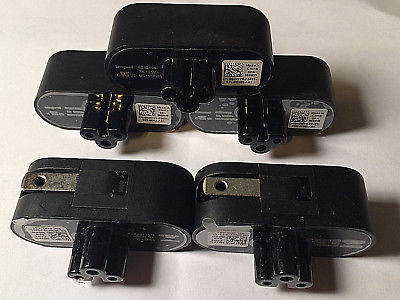 LOT of 5 New Genuine Dell 2-Prong AC Power Plug Adapter 7A 125V US115P2PA 8DHY9