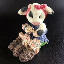 "Enesco Mary's Moo Moos Cow Figurine ""Sowing the Seeds of Friendship"" #207004  - $7.91"