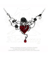 Bed Of Blood-Roses Necklace by Alchemy Gothic - $113.80