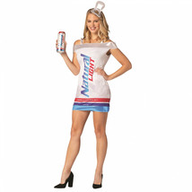 Natural Light Beer Can Dress Costume Silver - $44.98