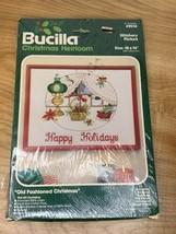 """Bucilla Kit - Christmas Heirloom : VICTORIAN Stitchery Picture kit - 18""""... - $24.70"""