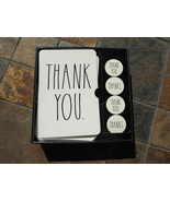 Rae Dunn THANK YOU Notecards Notes Cards Large Black Letters NIB - $14.00