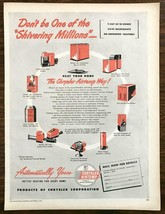 1947 Chrysler AirTemp Furnaces Print Ad Don't Be One of the Shivering Millions - $12.69