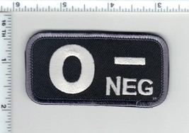 O-NEG (Negative) Blood Type Usa Medic Army Swat Patch W/ Velcro® Brand Fastener - $24.96