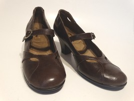 """A2 by AEROSOLES Heelrest Mary Jane Pump Heel 7.5"""" Brown Shoe Rounded Toe - $32.39"""